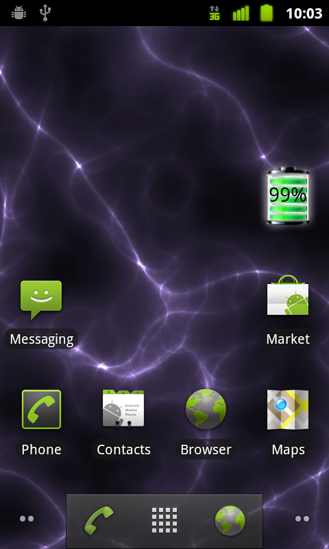 Android 2.3.3 Home Screen
